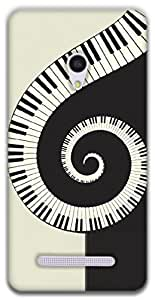 The Racoon Grip Piano Swirl hard plastic printed back case / cover for Asus Zenfone 5
