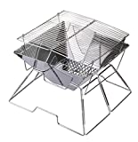 Sabuy Quadrilateral Folding Charcoal BBQ Grill Made from Stainless Steel