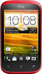HTC Desire C Smartphone (8,9 cm (3,5 Zoll) HVGA-Touchscreen, 5  Megapixel Kamera, 600MHz, 512MB RAM, 4GB Speicher, Android 4.0 OS) Flamenco Red