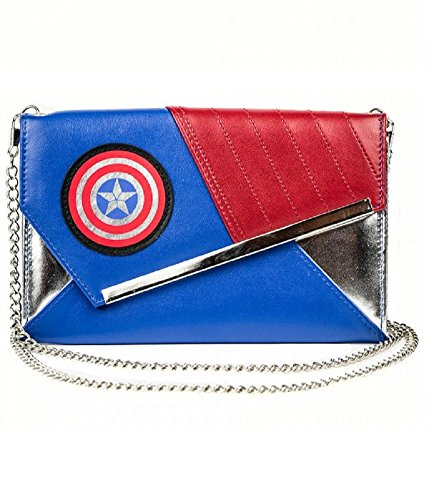 Captain America Wedge Envelope Wallet with Chain