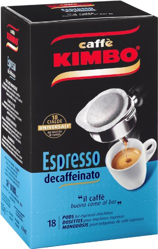 Choose Espresso Pods Neapolitan Decaffeinated 18 piece by Kimbo