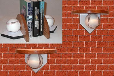 "Baseball Mini Sport Shelf - Set of 2 (Multiple) (10""l x 6""d x 6""h)"