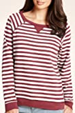 Pure Cotton Striped Sweat Top [T41-2593A-S]