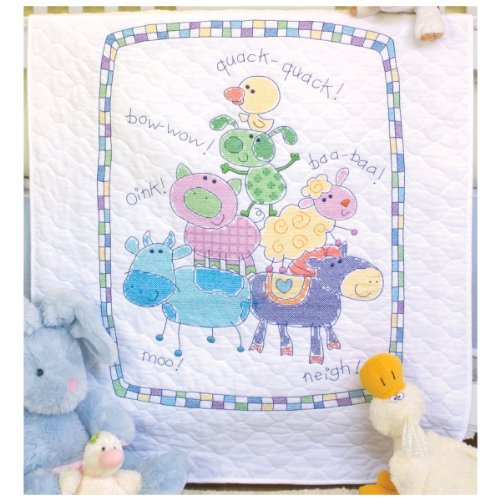 Dimensions Needlecrafts Stamped Cross Stitch, Farm Friends Quilt front-314211