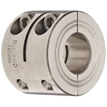 Ruland FCR Clamping Beam Coupling, Polished Aluminum, Inch