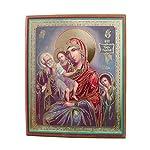 Ikone Madonna mit KInd auf Holzplatte