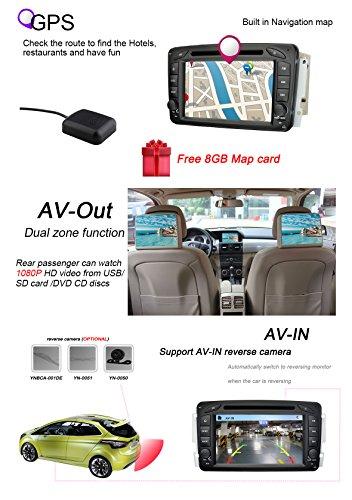 YINUO-7-Zoll-2-Din-Touchscreen-In-Dash-Autoradio-Moniceiver-DVD-Player-GPS-Navigation-fr-Mercedes-Benz-C-class-W2032000-2005-Mercedes-Benz-Clk-C209-W2091998-20045-Mercedes-Benz-VianoVito-W639-2004-200