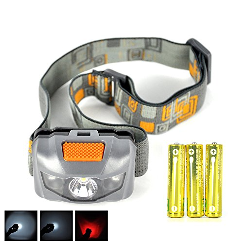 Boruit 3 LED 4-mode Mini LED Headlight with Red LED