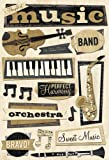 Karen Foster Design Acid and Lignin Free Scrapbooking Sticker Sheet, Gift of Music