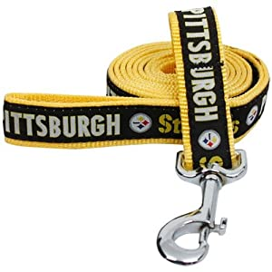 NFL Pittsburgh Steelers Gold Woven Team Pet Leash
