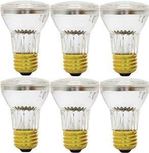 GE Lighting Energy-Efficient Halogen 47577 60-Watt, 650-Lumen PAR16 Spotlight Bulb with Medium Base, 6-Pack