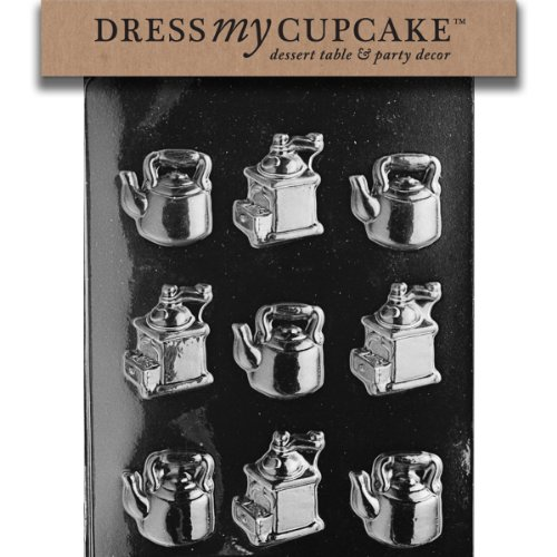 Dress My Cupcake Dmcao117 Chocolate Candy Mold, Coffee Pieces front-507659