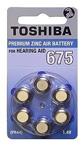 Toshiba Hearing Aid Batteries Size 675 , PR44, (60 Batteries)