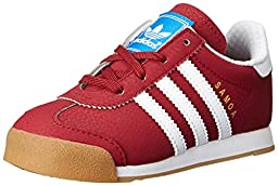 adidas Originals Samoa I Fashion Sneaker (Infant/Toddler), Collegiate Burgundy/Running White/Metallic/Gold, 4 M US Toddler