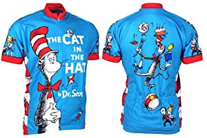 Cat in the Hat Men's Bicycle Jersey Large