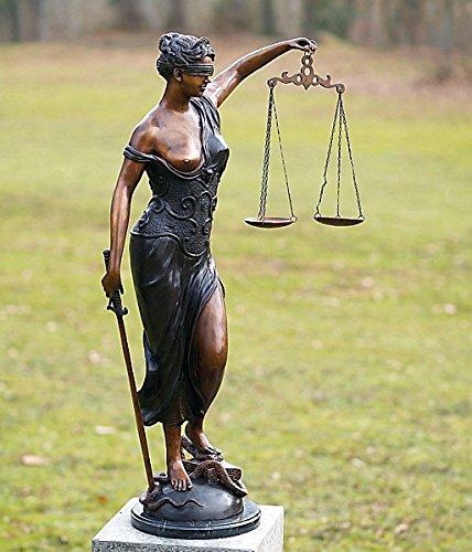 Justitia H 89cm, Bronzefigur