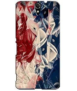 EU4IA MULTICOLOR MATTE FINISH 3D MATTE FINISH Back Cover Case For Sony Xperia C5 - D656