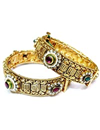 Shingar Jewellery Ksvk Jewels Antique Gold Plated Bangles Set For Women (bgp86-m-2.6)