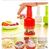 Generic Red : Liquid Master Vegetable Tools Onion Garlic Easy Slice Mashed Tools Kichen Tools Press Onion Cutter...