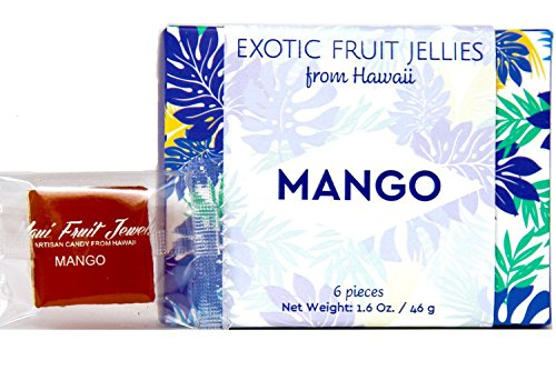 Mango Jelly from Maui Fruit Jewels Artisan Candy from Hawaii | Mangoes | A Jellied Gourmet Gummy (Mango, 6 pc) (Wine Flavored Candy compare prices)