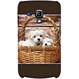For Samsung Galaxy S3 Mini I8190 :: Samsung I8190 Galaxy S III Mini :: Samsung I8190N Galaxy S III Mini Cute Puppies ( Cute Puppies, Puppies, Wood Board Background ) Printed Designer Back Case Cover By FashionCops
