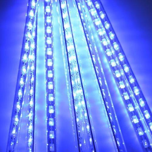 30cm 144 led meteor shower rain lights waterproof 8 tubes. Black Bedroom Furniture Sets. Home Design Ideas