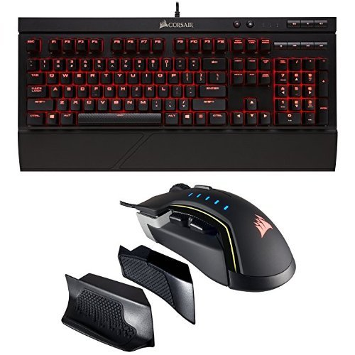 커세어 MX RGB 기계식 게이밍키보드 K68 + RGB 게이밍마우스 세트 - Corsair Gaming K68 Mechanical Keyboard, Backlit LED, Cherry MX Red, Dust and Spill Resistant and Cor