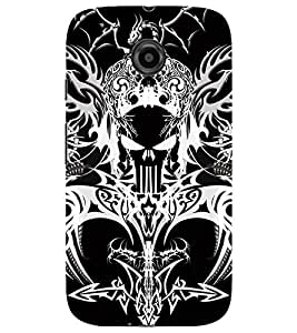 Evaluze danger sign Printed Back Case Cover for MOTOROLA MOTO E2