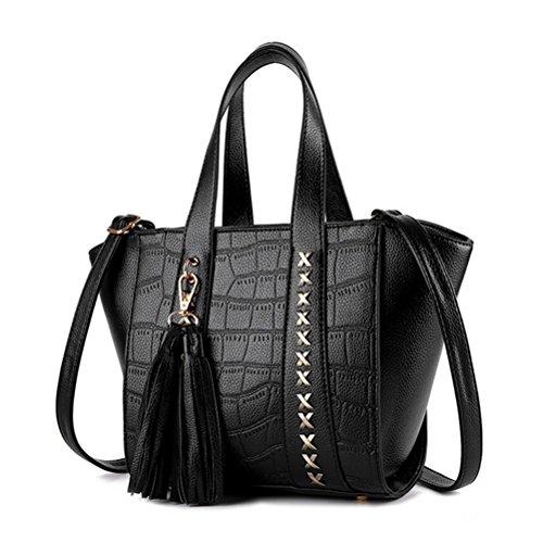 qtoo-european-and-american-fashion-rivets-tassel-shoulder-messenger-handbagsblackc