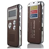 Goodaa Multifunctional Rechargeable 4GB 325HR Digital Audio Voice Recorder Dictaphone MP3 Player (Color: Brown, Tamaño: 325HR 4GB)