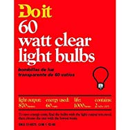GE Private Label97453Do it Clear Light Bulb-60W 2PK CLR BULB