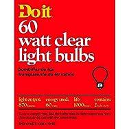 GE Private Label 97453 Do it Clear Light Bulb-60W 2PK CLR BULB