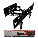 Mount-It! LCD TV, LED TV Wall Mount Bracket with Full Motion Swing Out Tilt & Swivel Articulating Dual Arm for Flat Screen Flat Panel LCD LED Plasma TV and Monitor Displays 42-70 inch