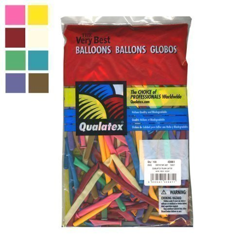Qualatex Modelling Balloons: Entertainers (100 pack) 260Q by Partyrama (Modelling Balloons compare prices)