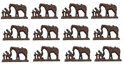 12 Pc - Cast Iron Praying Cowboy Nail - Craft Tack / Pin / Nails - Candle Wall Decor (Cast Iron Craft Pins compare prices)