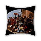 Slimmingpiggy Cushion Covers Of Oil Painting Molenaer, Jan Miense - Battle Between Carnival And Lent 20 X 20 Inches / 50 By 50 Cm,best Fit For Chair,sofa,him,home Theater,living Room,lounge 2 Sides