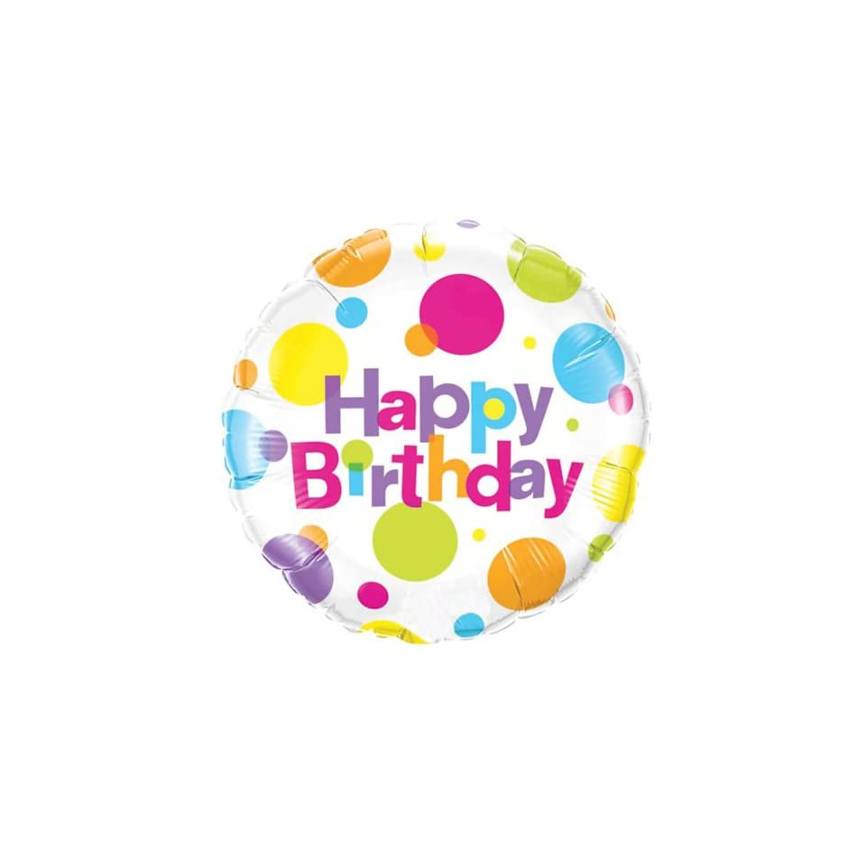Lets Party By Birthday Big Polka Dots Foil Balloon