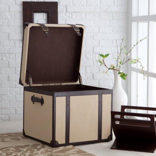 Cheap Explorer End Table Storage Trunk (RJD07773-A beige/brn)
