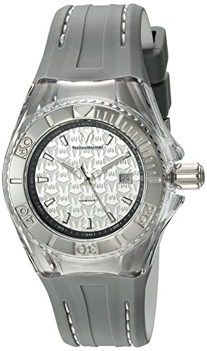 technomarine-womens-quartz-watch-with-silver-dial-analogue-display-and-grey-silicone-strap-tm-115157