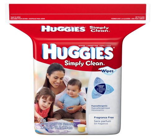 Huggies Simply Clean Baby Wipes - Unscented - 216 ct - 1