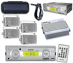 Silver Enrock Boat Radio USB AUX 4 3.5\