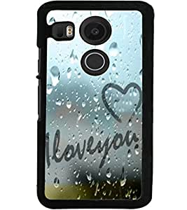 ColourCraft Love Quote Design Back Case Cover for LG GOOGLE NEXUS 5X