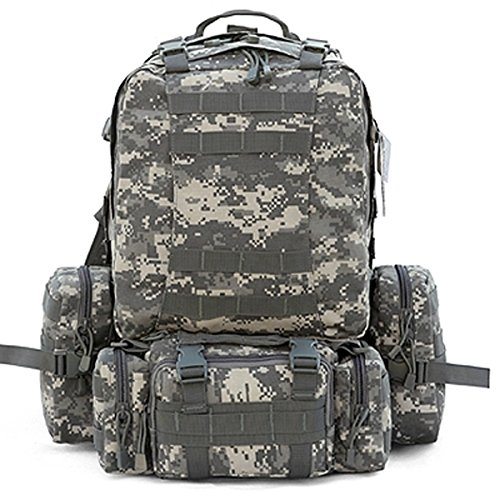 CVLIFE Outdoor 50L Military Rucksacks Tactical Backpack Assault Pack Combat Backpack Trekking Bag £¨ACU£©