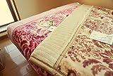 西川 毛布 シングル 日本製 「ORN.ベージュ」 マイヤー2枚合わせ アクリル毛布 (ベージュ)