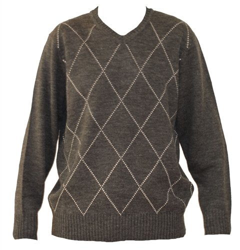 Mens Grey Wool Mix Jumper. Size Medium.