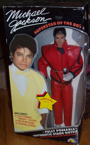 "Michael Jackson Superstar of The 80's "" THRILLER "" Outfit Doll"