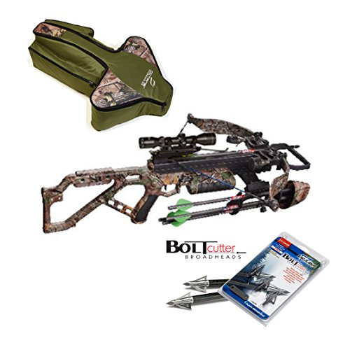 Excalibur Micro 355 Crossbow Package with upgraded TWILIGHT DLX Scope - Case & Bolt Cutter Broadheads (Excalibur Crossbow Micro 355 compare prices)