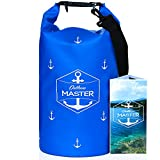 Outdoors MASTER Dry Bags - Floating Waterproof Bag for Boating, Sailing, Kayaking, Stand Up Paddle Boarding (Blue Royal, 20L)
