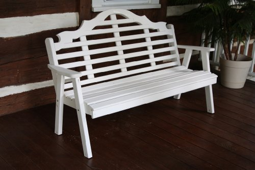 Classic Outdoor 4 Foot Marlboro Garden Bench - Painted- Amish Made Usa -Coffee
