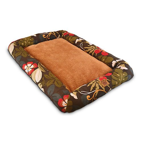 Precision Pet 5000 Low Bumper Crate Mat, 45 By 32, Simply Suede, Floral front-909258
